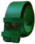 38mm Emerald Green Snap Fit Leather Belt